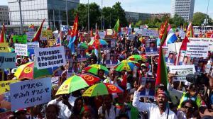 Eritrean mass demonstration in Geneva Jun. 20, 2015