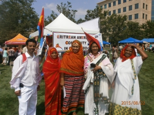 "Aurora Global Fest 2015. The outreach committee of the ""Eritrean American's community in Colorado"" during the fest."